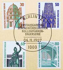 Berlin 1987: Sehenswürdigkeiten Nr. 793-796 mit Ersttagssonderstempel! 1A 1701