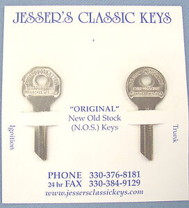 Rare PACKARD Briggs & Stratton GV 14 Original Key Set NOS 1953 1954 1955 1956