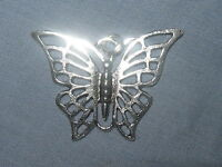 Beautiful 25mm Silver Tone Butterfly Pendant Charm Necklace USA Seller Corded