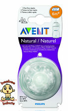 Avent Natural Nipple or Avent Natural Teat, Fast Flow #4, 2 Count, BPA Free