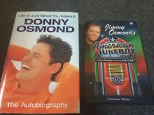More details for jimmy osmond signed ticket and photo and donny osmond autobiography