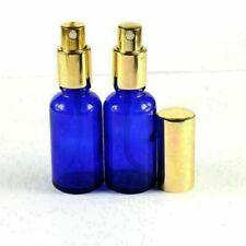 2Pcs 30ML(33*100mm) Blue Boston Round Glass Spray Bottle  Mist Sprayer