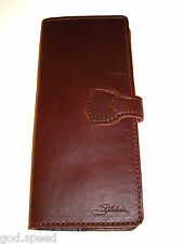 Genuine Saddleback Leather Retired SLIM BIFOLD WALLET CHECKBOOK COVER Chestnut