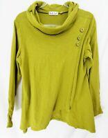 HABITAT Olive Green Cotton Cowl Knit Top EUC / Small