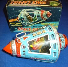 VINTAGE SH FRIENDSHIP 7 SPACE CAPSULE TIN FRICTION JAPAN SPACE ROCKET TOY NMIB