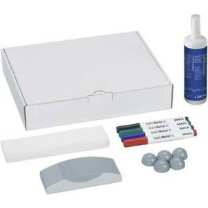 Maul kit accessori lavagna bianca whiteboard scatola con 4 marcatori