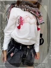 Monnalisa Long Sleeves T-Shirt St. Love Size 122, 128, 140, 152 New Hw 20/21