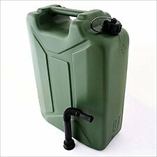 Army Can 20 Litre Plastic Jerry Can 20L With Spout Fuel Storage Water Container
