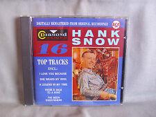 Hank Snow- Diamond Series- 16 Top Tracks- RCA/ BMG 1988- Made in Germany WIE NEU