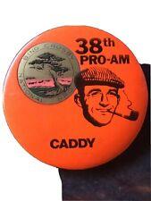 1979 38th BING CROSBY NATIONAL PRO-AM Golf Tournament CADDY BADGE Pin Caddie