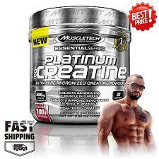 MuscleTech Platinum 100% Creatine Powder Micronized Gym Workout, 80 Servings NEW