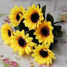 FD1010 Artificial Sunflowers Posy Bouquet Home Craft Decor DIY 1 Bunch 7 Heads A