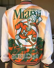 Vintage Miami Hurricanes Chalk Line Fanimation Jacket USA Made Size XL RARE