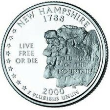 2000 - D  New Hampshire   State Quarter  **BRILLIANT UNCIRCULATED**