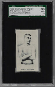 1938 CARTLEDGE  RAZOR # 18 JOHN L. SULLIVAN 96 MINT 9 FAMOUS PRIZE FIGHTERS