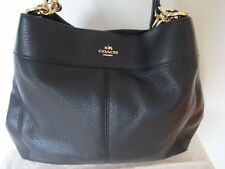 Coach Black Women's Pebble Leather Shoulder Handbag