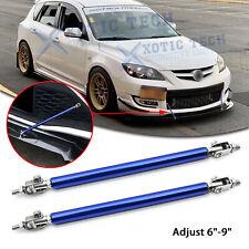 """For Mazda 3 Adjust 6""""-9"""" Blue Front Bumper Splitter Sport Support Stabilizer Bar"""