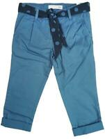 Girls Trousers Spot Tie Belt Blue Chino Pants Fashion Cotton 2 to 14 Years