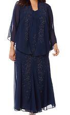Polished Presence Jacket Dress By Catherine's Lane Bryant Navy Blue Size 24W
