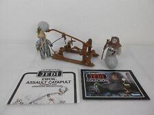 Vintage Star Wars ROTJ 1984 Ewok Assault Catapult w/Chirpa & Teebo - Working
