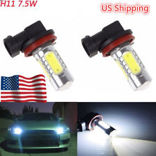 1 Set H11 White COB Projector Lens LED Bulbs Car Driving Fog Lights For A3