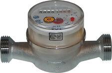 """Kaltwasserzähler Wasseruhr Wasserzähler QN 2,5m³ Baulänge 130mm  geeicht 3/4"""""""