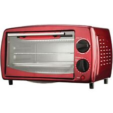 Toaster Oven and Broiler (Red) with 4-Slice