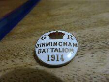 More details for ww1 birmingham battalion 1914 - enamel pals mufti badge