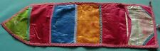 TRADITIONAL INDIAN COTTON CLOTH FIVE (5) POCKETS HOME WALL HANGING STORAGE BAG