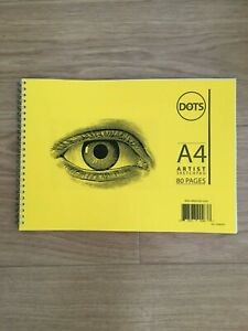 A4 Artist Sketch Book White Paper Spiral Sketch pad Yellow Card Cover