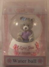 Love You Mum Glitter globe waterball pink 6cm x 4cm