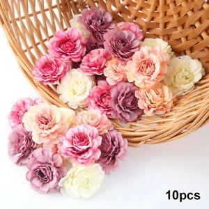 10Pcs Artificial Silk Rose Peony Flower Heads Bulk Craft Wedding Party Decor Hot