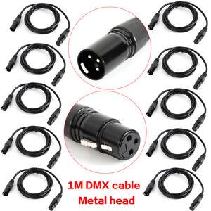 10x 1m Mikrofonkabel 3 pol XLR DMX Adam Hall Mikrofon Kabel Neutrik kompatibel