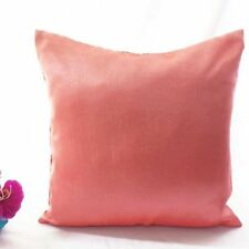 Faux Silk Patternless Rectangular Decorative Cushions