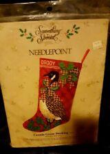Something special, needle point, Canada goose stocking