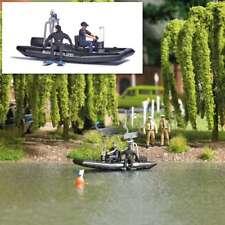 BUSCH H0 5485 Lac avec fahrendem Polizeiboot