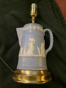 Wedgwood jasperware lamp. Rare Find. Attractive. Blue