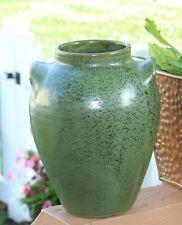 Vintage Antique Cole Pottery Seagrove NC Frog Green Glaze 2 Handled Vase