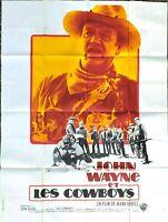 Plakat Kino Original Film Western Les Cowboys John Wayne 120 X 160 CM
