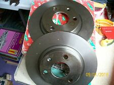 TRW Brake disc set (2) Front 238mm PEUGEOT106 CITROEN SAXO AX  DF1120