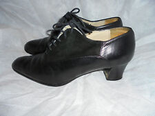 "BALLY ""GENOLA"" WOMEN'S BLACK LEATHER/SUEDE LACE UP SHOES SIZE UK 4.5 EU 37.5 VGC"