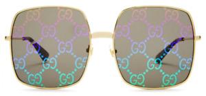 Gucci Damen Sonnenbrille GG0414S 003 60mm multicolor gold quadratisch 23 62
