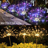 4X 120LED Garden Path Lights Solar Power Firework Lamp Starburst Stake Outdoor