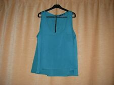 GREEN SLEEVELESS TOP BY JANE NORMAN SIZE 14