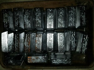 10+lbs Cleaned Soft Lead Ingots for all your lead needs! FREE PRIORITY SHIPPING!