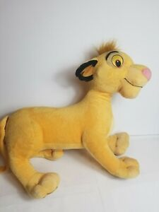 "2002 Simba Lion King Plush 20"" Disney Hasbro Jumbo Large Stuffed Animal"