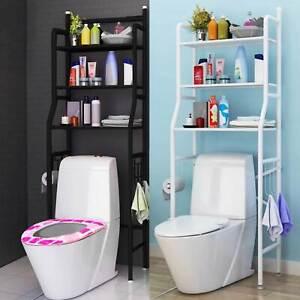 3 Tier Over Toilet Storage Rack Bathroom Laundry Washing Machine Shelf Organizer