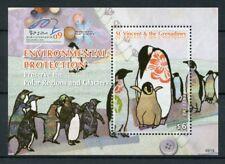 St Vincent & Grenadines 2009 MNH Penguins Environmental Protection 1v S/S Stamps