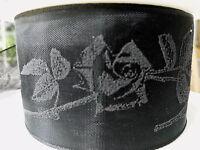 3m Trauerbinde Trauerschleife Rose 50mm Trauerband Schwarz Band Trauerschmuck