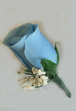 Rose Boutonnieres ~ MANY COLORS ~ Silk Wedding Flowers Prom Groomsmen Father